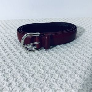 Coach Red Leather Belt Large